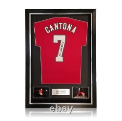 Eric Cantona Hand Signed #7 Manchester United Shirt in Deluxe Classic Frame