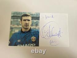 Eric Cantona Hand Signed Autograph Manchester United Club Card