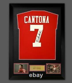 Eric Cantona Hand Signed Manchester United Football Shirt In Frame Presentation