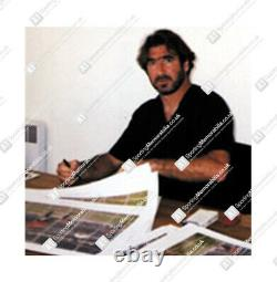 Eric Cantona Hand Signed Manchester United Photo Back Of The Net Autograph