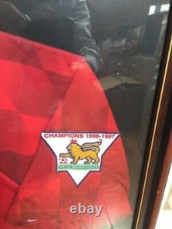 Eric Cantona Manchester United Football Shirt Signed 1996/97 Man Utd France