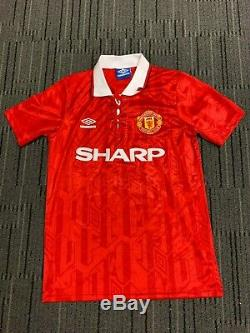 Eric Cantona Manchester United Hand Signed Football Soccer Jersey Ronaldo Messi