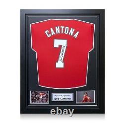 Eric Cantona Signed 2019-20 Manchester United 2019-20 Shirt. Framed