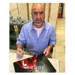 Eric Cantona Signed Manchester United Photo. Framed