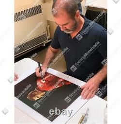 Eric Cantona Signed Manchester United Photo The King Autograph