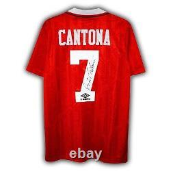 Eric Cantona Signed Manchester United Shirt 1992/94 Autographed Jersey Retro COA