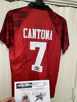 Eric Cantona Signed Manchester United Shirt 1996/1997