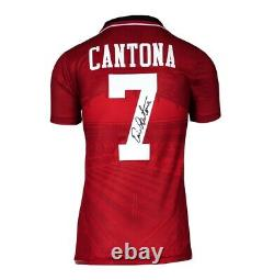 Eric Cantona Signed Manchester United Shirt 1996 FA Cup Autograph Jersey