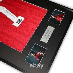 Eric Cantona Signed Manchester United Shirt Framed Rare 7 autographed with COA