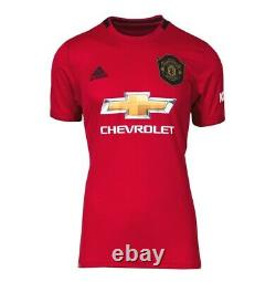 Eric Cantona Signed Manchester United Shirt Home 2019-2020 Autograph