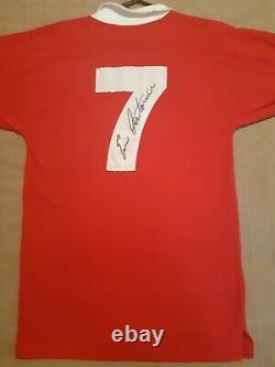 Eric Cantona Signed Number 7 Manchester United Man Utd Retro Shirt