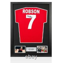 Framed Bryan Robson Signed Manchester United Shirt 1985 FA Cup Final Number 7