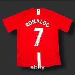 Framed Cristiano Ronaldo Manchester United Signed Shirt 07/09