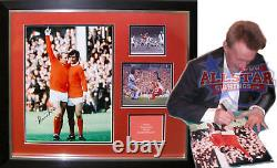 Framed Denis Law Signed Manchester United Football Photograph George Best Proof