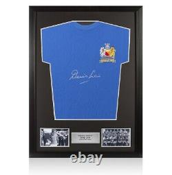 Framed Denis Law Signed Manchester United Shirt 1968 European Cup Winners