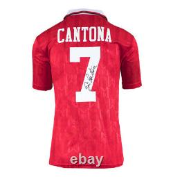 Framed Eric Cantona Signed Manchester United Shirt 1994 FA Cup Final Number 7