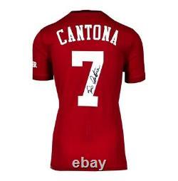 Framed Eric Cantona Signed Manchester United Shirt Home 2019-2020