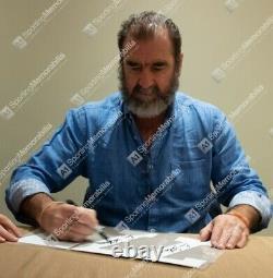 Framed Eric Cantona Signed Manchester United Shirt Home 2019-2020 Premium Fram