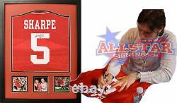 Framed Lee Sharpe Signed Manchester United Football Shirt See Coa & Proof