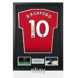 Framed Marcus Rashford Signed Manchester United 2018/2019 Shirt Number 10