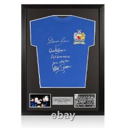 Framed Multi Signed Manchester United Shirt 1968 European Cup Winners