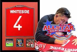 Framed Norman Whiteside Signed Manchester United 1985 Football Shirt Coa Proof