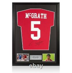 Framed Paul McGrath Signed Manchester United Shirt Number 5 Autograph