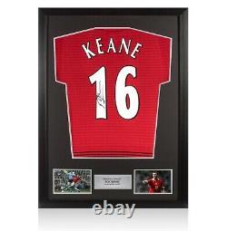 Framed Roy Keane Signed Manchester United Shirt Number 16 Autograph Jersey