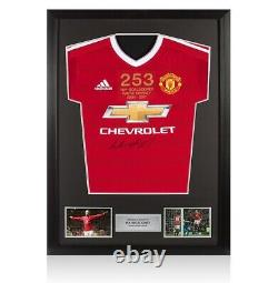 Framed Wayne Rooney Front Signed Manchester United Shirt Special Edition 253