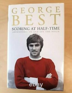 GEORGE BEST signed HB BOOK'Scoring At Half-Time' Manchester United fan Gift