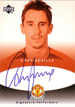 Gary Neville 2002 Upper Deck UD Manchester United Autographed Auto Signed Card
