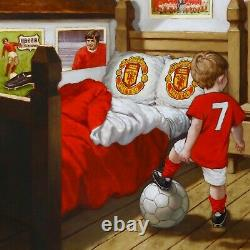 George Best, Art, Print, Manchester United, Painting, Football, Collectable