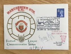 George Best SIGNED Autograph First Day Cover FDC 70 Years Manchester United