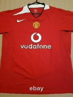 George Best Signed Number 7 Manchester United Retro 2004 Shirt