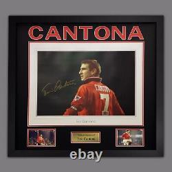 Giant Manchester United Signed & Framed Eric Cantona Poster SUPERB ITEM £129