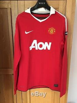 Giggs Manchester United Match Worn Shirt. Known Game. Signed. Authenticated
