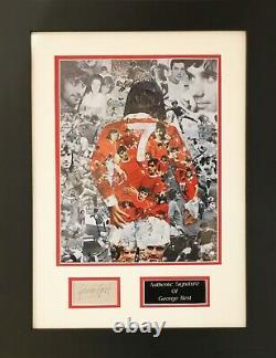 Hand Signed George Best Manchester United Framed Montage With C. O. A