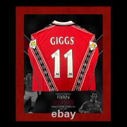 Hand Signed Ryan Giggs Manchester United F. C. 1998 Professionally Framed Shirt