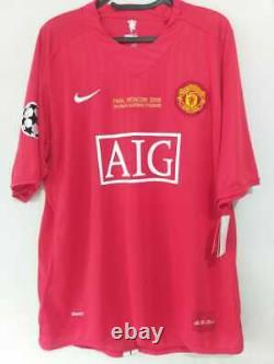 Jersey Manchester United Final UCL 2007/2008 Cristiano Ronaldo -Signed by Player