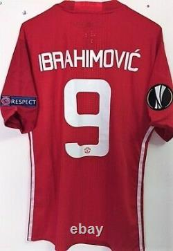 Jersey Manchester United Winner Europa League 2017 #9 Ibrahimovic Signed Players