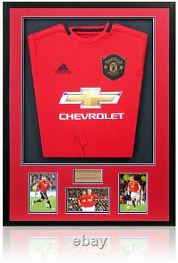 Luke Shaw Hand Signed Manchester United Home Shirt AFTAL Certified