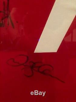 Man Untied Shirt Signed George Best, David Beckham, Bryan Robson, Eric Cantona
