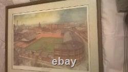 Man Utd v Blackpool signed framed print'The Power of The Babes' 1955/56 Season