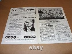 Manchester United 1956-57 Busby Babes Signed Programme Aftal