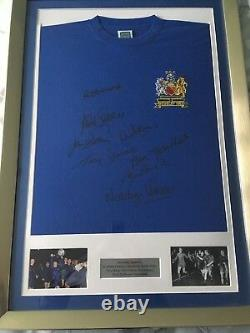 Manchester United 1968 European Cup Final Shirt Framed With 8 Signings