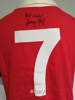 Manchester United 1970's Man Utd Retro Shirt Signed George Best Guarantee