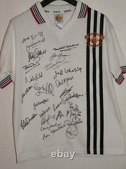Manchester United 1978 Centenary Shirt Multi-Signed x 25 Red Devils