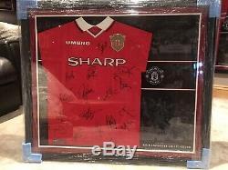 Manchester United 1999 2000 Signed Treble Winners Shirt Framed COA