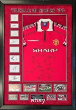 Manchester United 1999 Treble Winners Signed Shirt Aftal