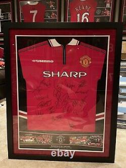 Manchester United 1999 Treble Winners Signed Shirt Jersey Beckham